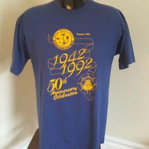 Vtg Navy shirt